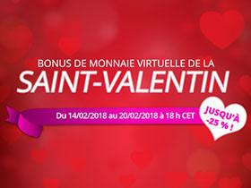 Bonus de monnaie virtuelle de la Saint-Valentin