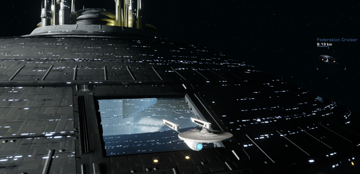 Reversing into Spacedock
