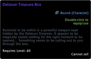 Scrigno del tesoro Delzoun