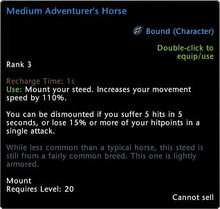 Cavallo dell'avventuriero medio