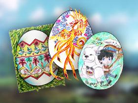 Gagnants du concours de décoration d'œufs de Pâques PWI