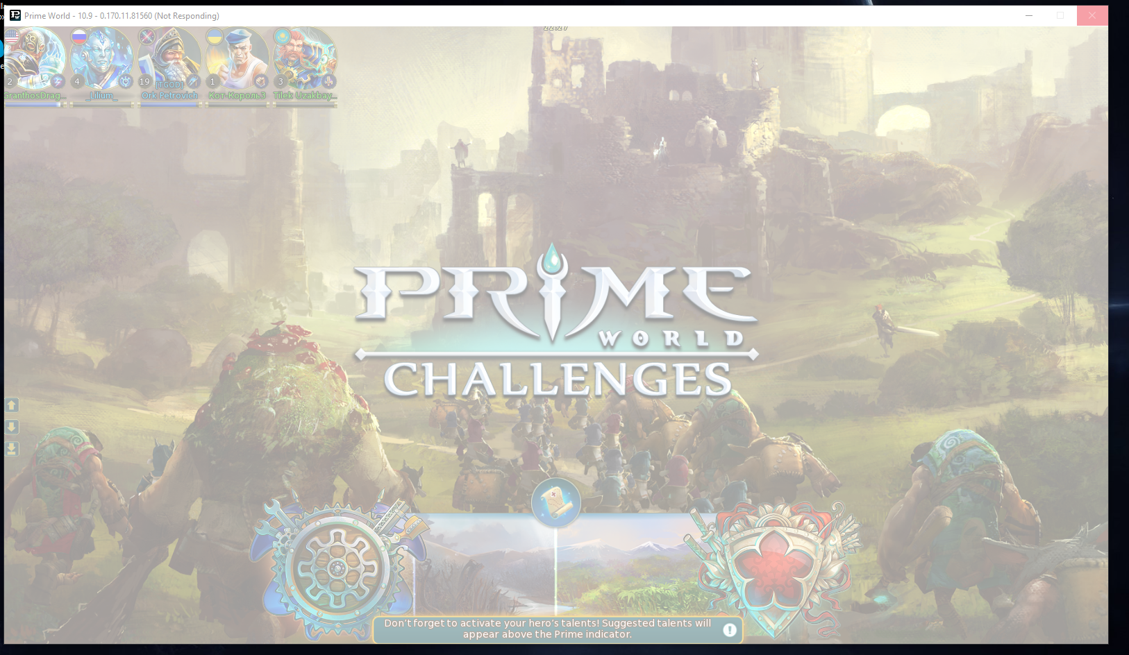 Prime World challenges