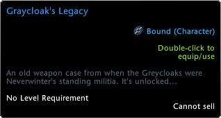 Graycloak'ın Mirası Tooltip