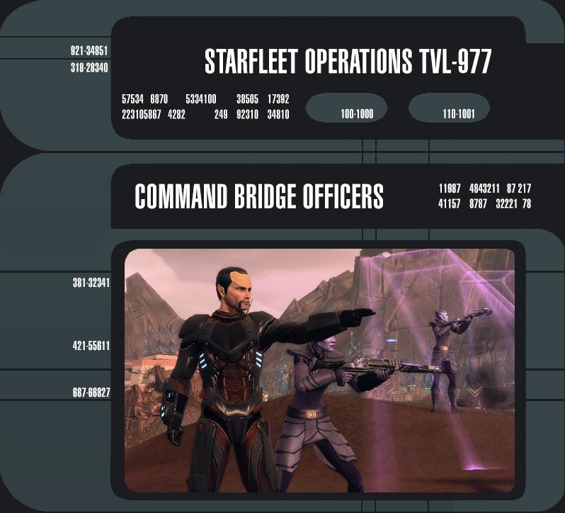 Commander Bridge Officers.