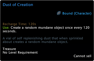 Dust of Creation Tooltip