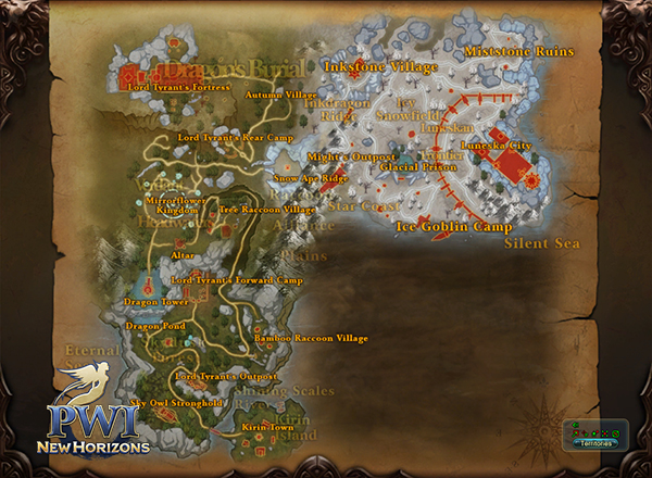 PWI, Luneska, Map, New content