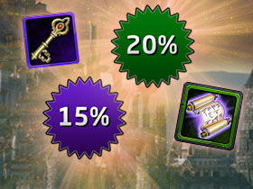 15% Keys and 20% XP Boosts Sale!