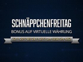 Schäppchenfreitag: Bonus auf virtuelle Währung