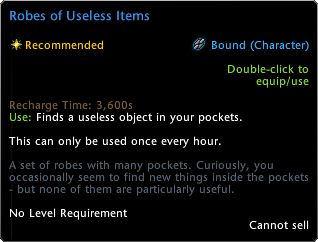 Robe of Useless Items Tooltip