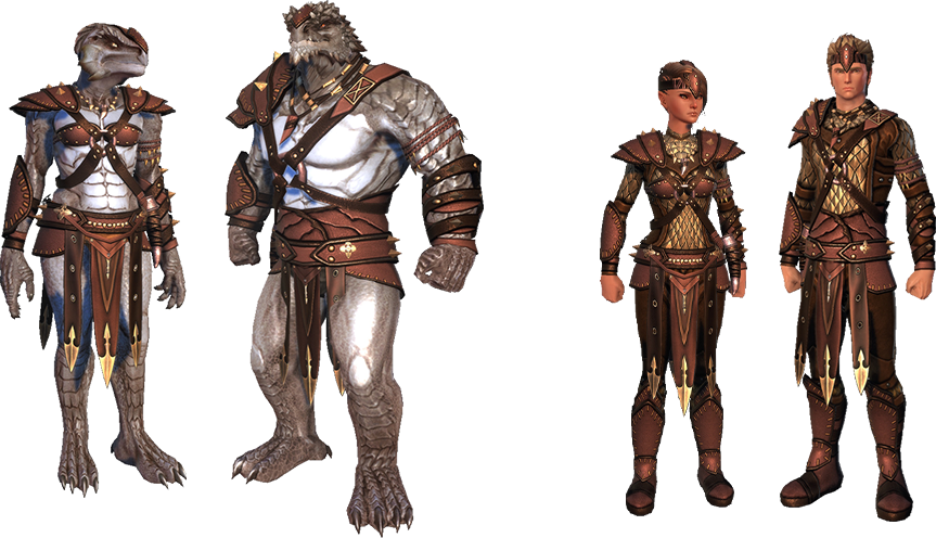 Dragonborn Ceremonial Fashion in the Dragonborn Legend Pack in Neverwinter