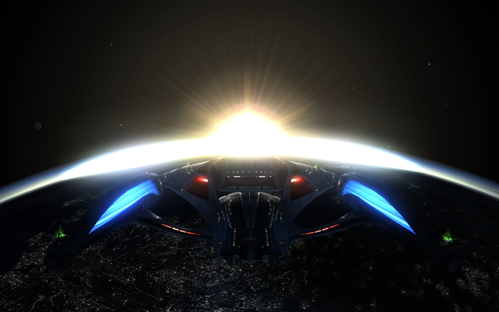 Sonne über Erde