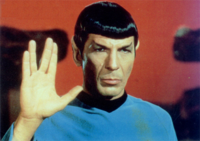 The great Leonard Nimoy as Spock