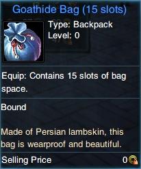 Tragt mit der Ziegenfell-Tasche mehr Gegenstände in Swordsman!