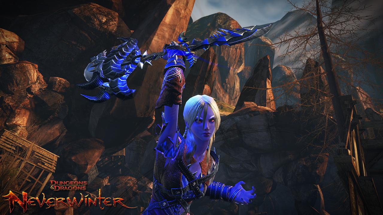 Drow Female Scourge Warlock casting dark spells to destroy her foes!