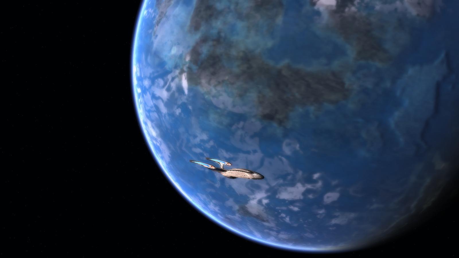 U.S.S. Hindenburg erforscht einen Planeten.