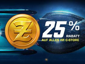 25% Rabatt auf alles im C-Store