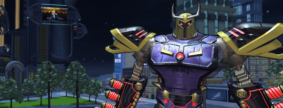 Champions, Superhero MMO, Free to Play, Action MMO, Champions Online, Dr. Destroyer, Mega-Destroid, Invasion