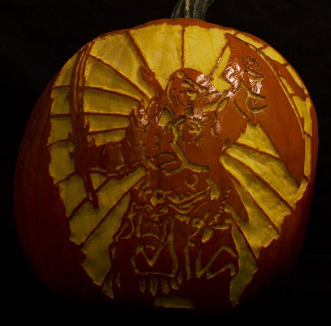 Champion, Unlit Pumpkin, Carved Pumpkin