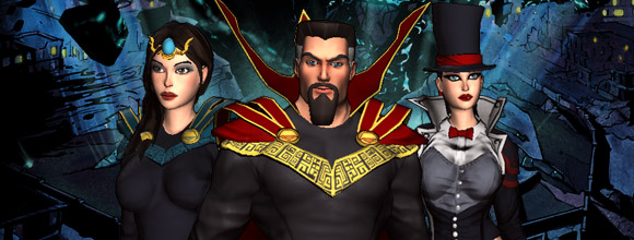 Champions, Superhero MMO, Free to Play, Action MMO, Champions Online, Witch, Wizard, Costume Set