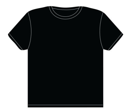 black t shirts template - photo #6