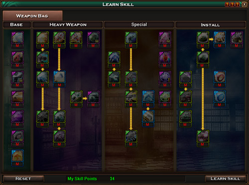 Rusty Hearts: Reborn skill tree manager image