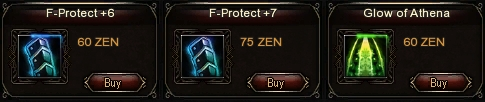 F-Protects, Fortification Items, Gear Upgrades